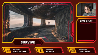 Twich Overlay Design Template for Action Game Streamers 3212a-el1
