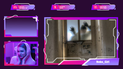Twitch Overlay Creator for a Survival Horror Gaming Steam 3210d-el1