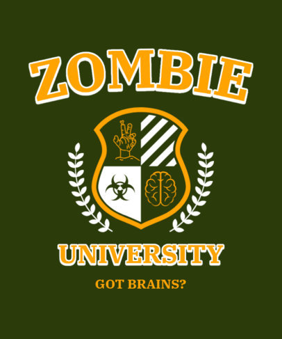 T-Shirt Design Maker Featuring an Emblem with Zombie Graphics 3209e