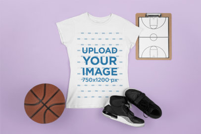 Mockup of a Basketball Tee for Women m675