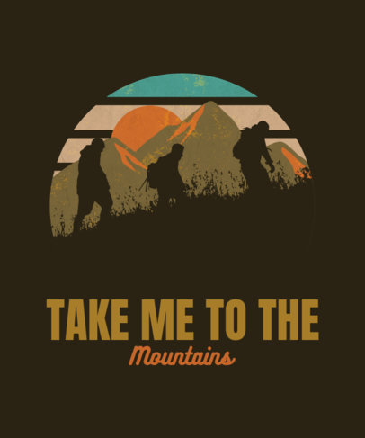 T-Shirt Design Creator Featuring a Group of Hikers 3229c