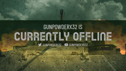 World of Tanks-Inspired Twitch Offline Banner Maker with a Cool Background 3224d