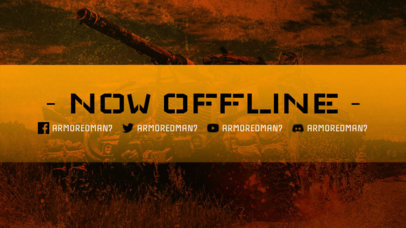 Twitch Offline Banner Maker Inspired by World of Tanks 3224h