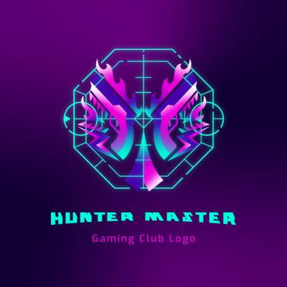 Futuristic Logo Maker for a Gaming Club 3916d