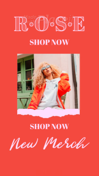 Instagram Story Video Template for a Pop Artist's Merch Promo 2491-el1