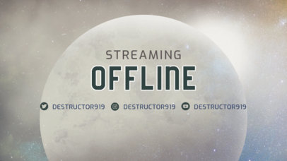 Destiny-Inspired Twitch Offline Banner Maker for Gaming Streamers 3223c