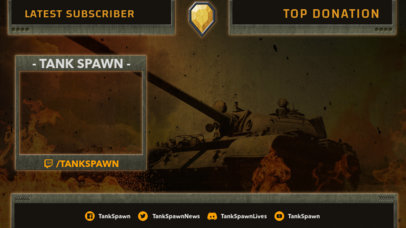 World of Tanks-Inspired Twitch Overlay Generator with Cool Icons 3225a