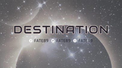 Twitch Banner Generator for Destiny Fans Featuring an Epic Background 3223b
