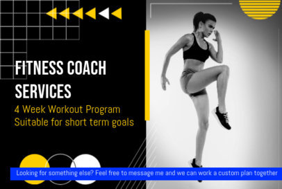 Fiverr Gig Image Template for a Fitness Coach 3239a