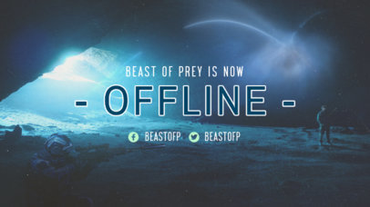 Twitch Offline Banner Maker for Destiny Fans Featuring a Space-Themed Background 3223f