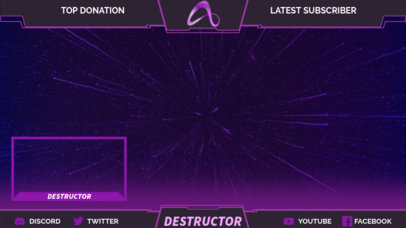 Twitch Overlay Generator with a Space Travel-Theme 3222g