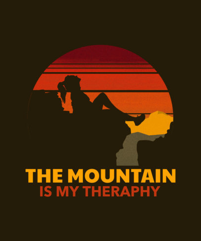 T-Shirt Design Creator for Climbing Enthusiasts 3229b
