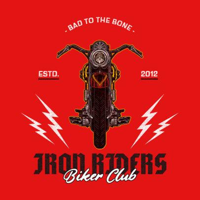 Rad Logo Maker for Biker Clubs Featuring Thunder Graphics 3270b-el1