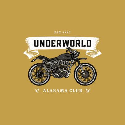 Logo Template with a Vintage Motocross Bike 3278d-el1