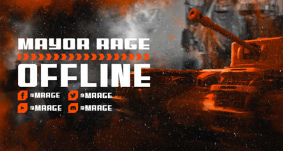 Warfare-Themed Twitch Banner Maker with a Tank Graphic 3226b