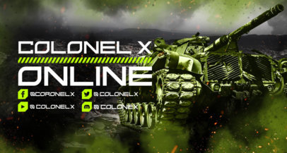 Military-Themed Twitch Banner Maker Inspired by World of Tanks 3226h