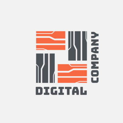 Digital Company Logo Maker with an Abstract Pattern 3912d
