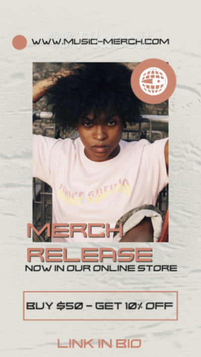 Instagram Story Video Maker for Music Merch Clothing Brands 2485-el1