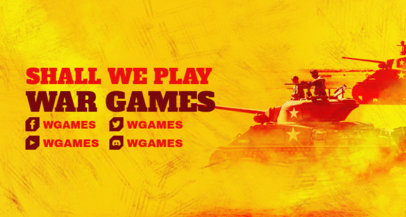 Twitch Banner Template for War Games Streamers 3226c