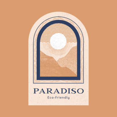 Eco-Friendly Resort Logo Generator Featuring an Abstract Landscape Graphic 3910e