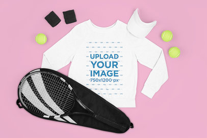 Mockup of a Sweatshirt with Tennis Training Gear m664
