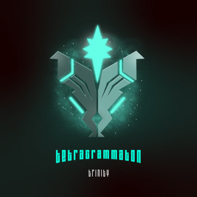 Gaming Logo Template with an Emblem from Outer Space 3916k