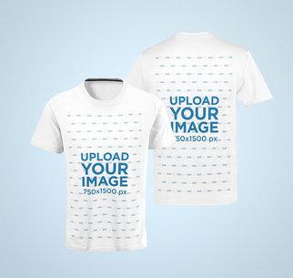 Both-Sides Ghosted Mockup of a Men's T-Shirt 41356-r-el2