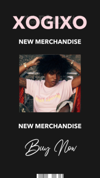 Instagram Story Video Template for a Music Merch Online Store 2488-el1