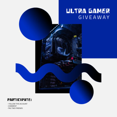 Gaming-Themed Instagram Post Maker Featuring a Giveaway Announcement 3294d-el1