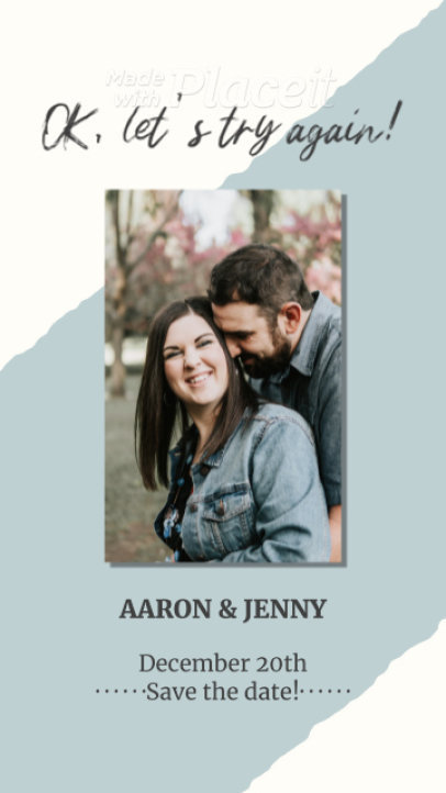 Instagram Story Video Creator with Animated Text for Wedding Announcements 2588