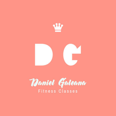 Fitness-Themed Logo Template Featuring Minimal Lettering 3935d