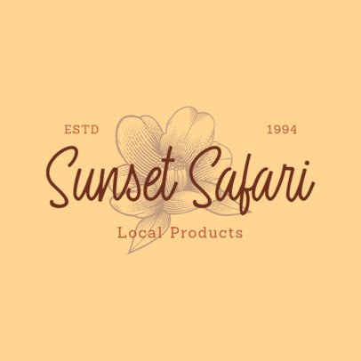Floral-Themed Logo Generator for a Local Products Seller 3928g
