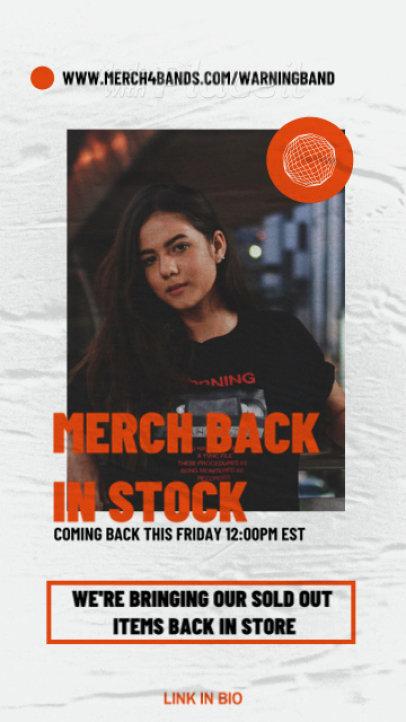 Instagram Story Template for a Rock Music Artist's Merch Restock Announcement 2486-el1