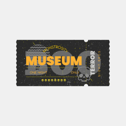 Horror-Themed Logo Generator Featuring a Circus Ticket Illustration 3937h