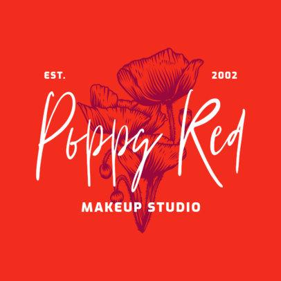 Floral Logo Logo Generator for a Beauty Studio 3928o