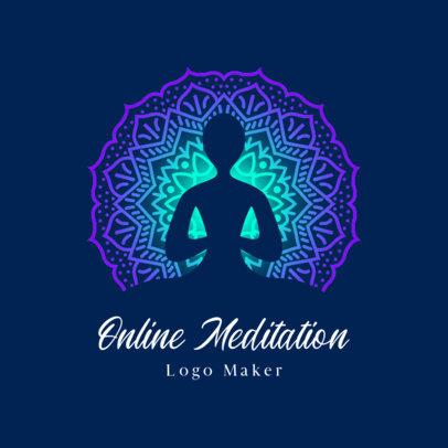 Wellness Logo Generator Featuring Meditation Graphics 3952