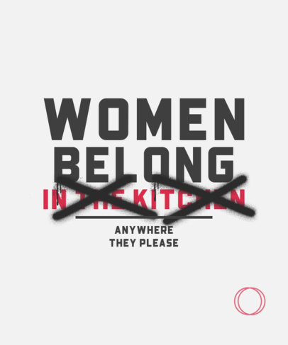 Feminist T-Shirt Design Maker with Strikethrough Text with Graffiti 3249a