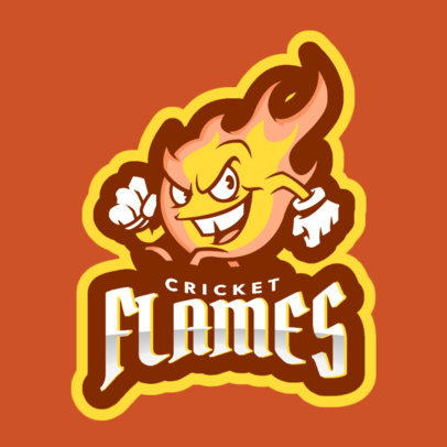 Cricket Logo Maker Featuring a Cartoonish Flame 1649o-2964