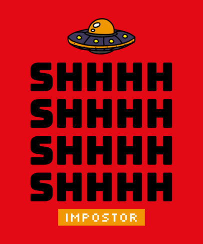 T-Shirt Design Generator Featuring an Among Us-Inspired Spaceship 1810-3276a