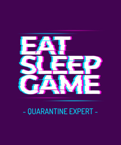 T-Shirt Design Creator Featuring a Glitch-Style Quote for Gamers 3272o