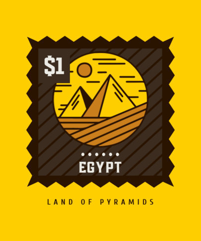 T-Shirt Design Creator with an Illustration of the Egyptian Pyramids 3327c-el1