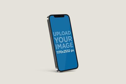 Mockup of an Angled iPhone 12 Pro 5010-el1