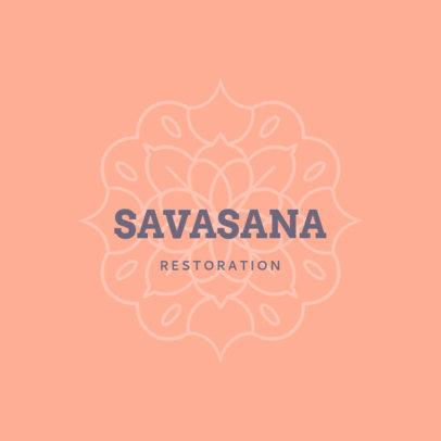Logo Generator for a Yoga Teacher Featuring an Elegant Mandala 3954e
