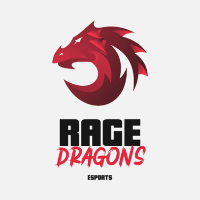 Dragon-Themed Gaming Logo Template with an Abstract Graphic 3348a-el1