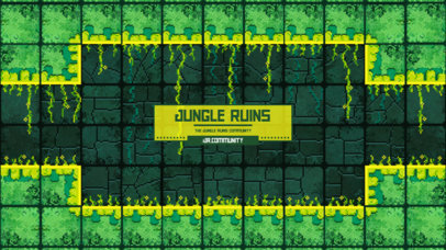 Discord Theme Maker with an 8-Bit Style Featuring a Jungle Background 3343a-el1