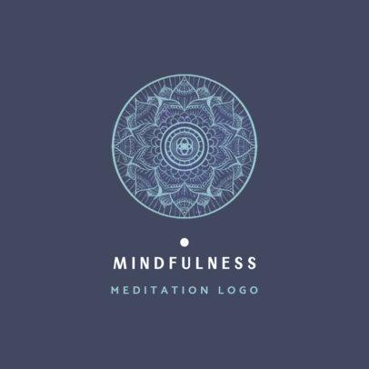 Mindfulness Logo Maker Featuring Beautiful Mandala-Styled Graphics 3953c