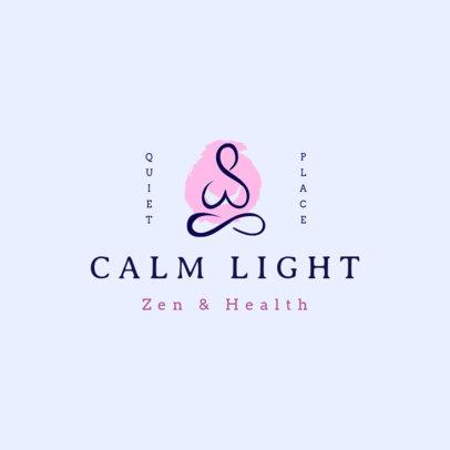 Zen Logo Creator Featuring a Minimalist Silhouette for a Yoga Place 3951e