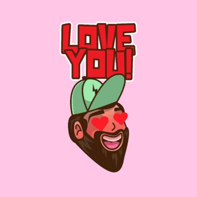Twitch Emote Logo Creator of a Funny Bearded Man 3963