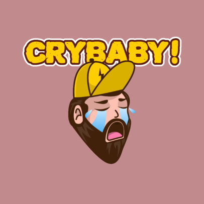 Twitch Emote Logo Maker Featuring a Grown Man Crying 3963c