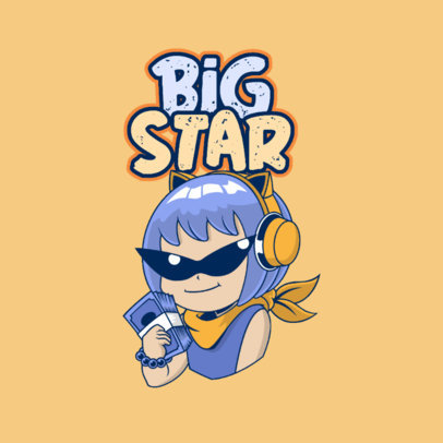 Twitch Emote Logo Maker for a Gaming Streaming Star 3957a